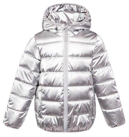 Купить Куртка playToday Sport Kids Girls 120225001 размер 98, серебристый по низкой цене с доставкой из Яндекс.Маркета (бывший Беру)
