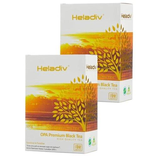 Чай черный Heladiv OPA Premium Black Tea, 100 г, 2 уп. чай черный heladiv pekoe classic black tea 100 г 2 уп