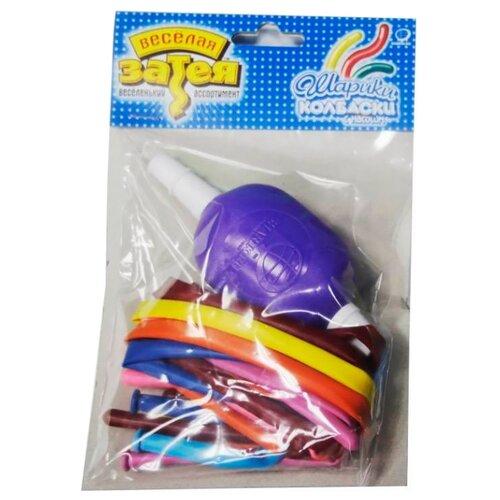 веселая затея светящаяся палочка со свистком камуфляж Набор воздушных шаров для моделирования Веселая затея 1111-0120 (10 шт.)