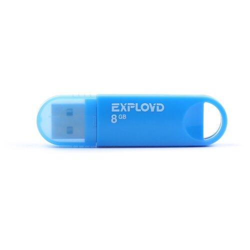 Фото - Флешка EXPLOYD 570 8GB blue флешка exployd 570 8gb white