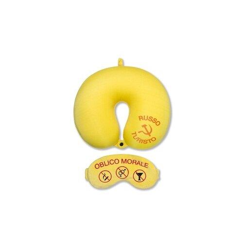 Антистрессовая подушка для шеи с маской Штучки, к которым тянутся ручки Облико Морале, желтая