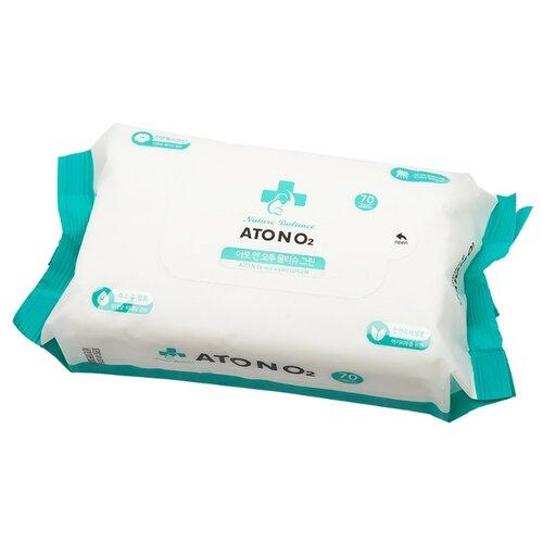 Влажные салфетки Atono2 Wet Wipes Green липучка 70 шт.Влажные салфетки<br>