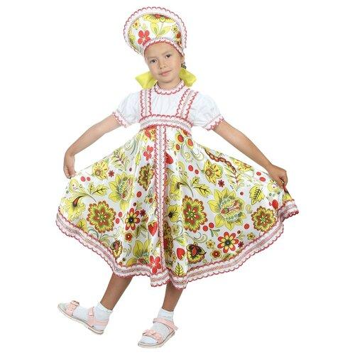 Купить Костюм Страна Карнавалия Хохлома для девочки (2763359-2763378), белый, размер 110-116, Карнавальные костюмы