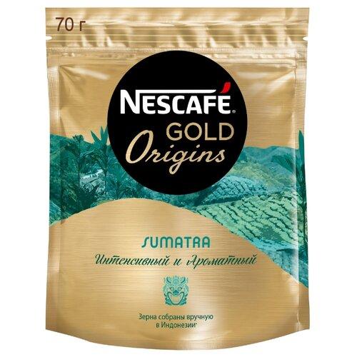 Кофе растворимый Nescafe Gold Origins Sumatra, пакет, 70 г nescafe classic crema кофе растворимый 70 г пакет