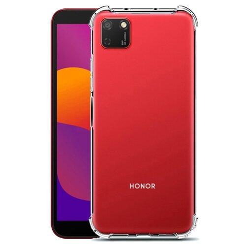Чехол OrangeStereo для Huawei Honor 9S усиленные края прозрачный легкая тонировка