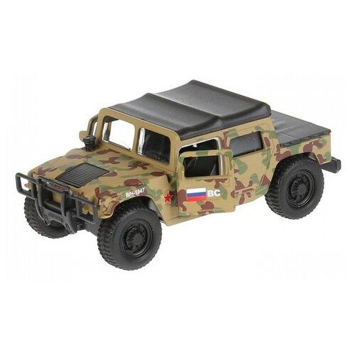 Купить Внедорожник ТЕХНОПАРК Hummer H1 Военный (SB-18-09-H1-M(GY)-WB) 12 см бежевый, Машинки и техника
