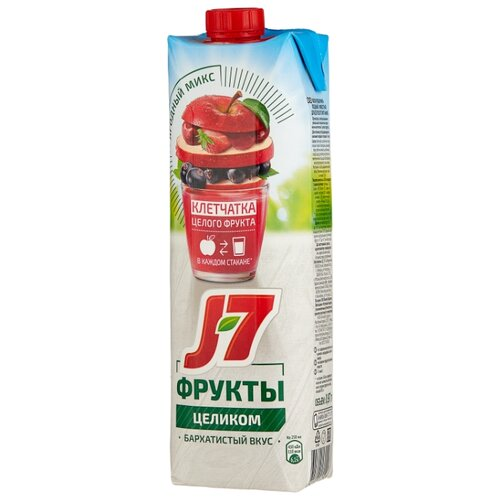 цена на Нектар J7 Фрукты целиком Яблоко-Ягоды, 0.97 л