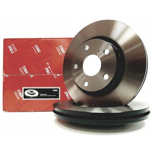 Комплект тормозных дисков передний TRW DF6679 277x26 для Toyota Auris, Toyota Corolla (2 шт.)