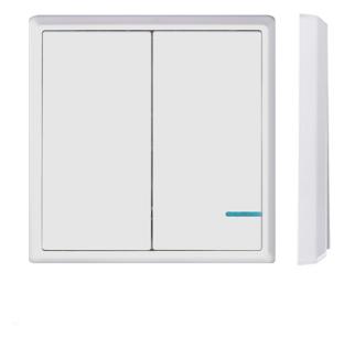 Выключатель GRITT Electric A181202WWF, белый фото 1