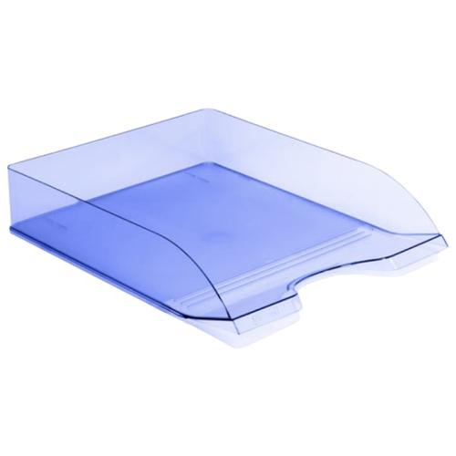 Купить Лоток горизонтальный для бумаги СТАММ Дельта тонированный голубой, Лотки для бумаги