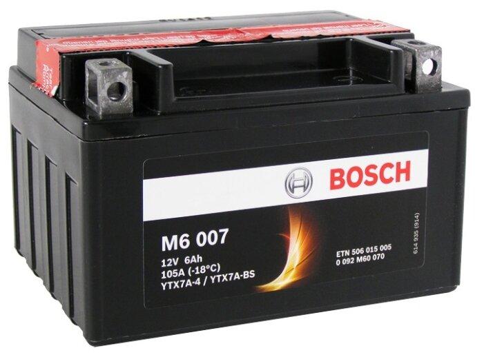 Мото аккумулятор Bosch M6 007 AGM (0 092 M60 070)