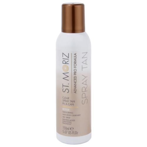 Спрей для автозагара St.Moriz Advanced Pro Formula Clear spray tan in a can Medium 150 мл  - Купить