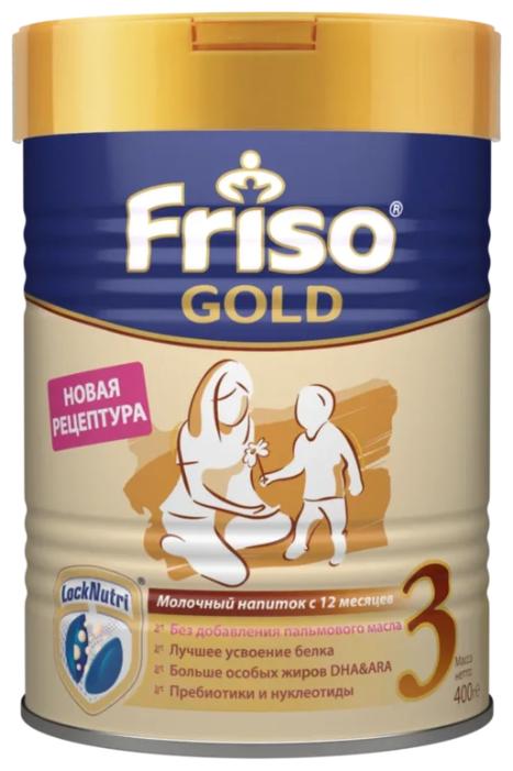 Купить Смесь Friso Friso Gold 3 без пальмового масла (от 1 года до 3 лет) 400 г по низкой цене с доставкой из Яндекс.Маркета