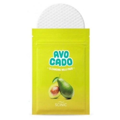 цена на Scinic спонжи для снятия макияжа с экстрактом авокадо, 20 мл, 10 шт.