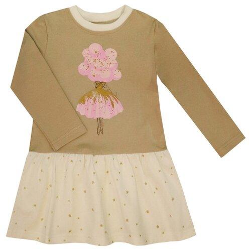 Купить Платье KotMarKot размер 110, бежевый, Платья и сарафаны