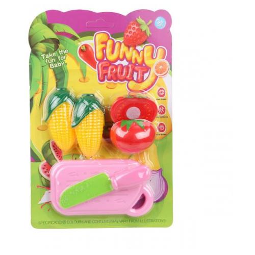 Набор продуктов с посудой Наша игрушка 0810-9 розовый/желтый/красный игрушка