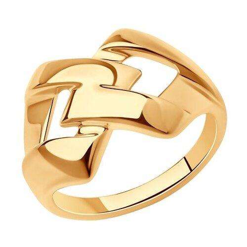 Diamant Кольцо из золочёного серебра 93-110-00613-1, размер 20 фото