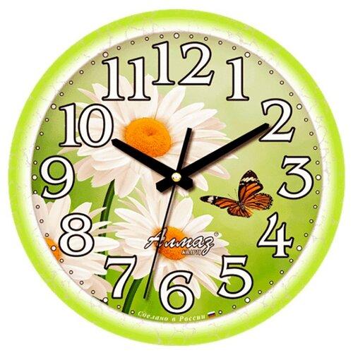 Часы настенные кварцевые Алмаз E15 зеленый