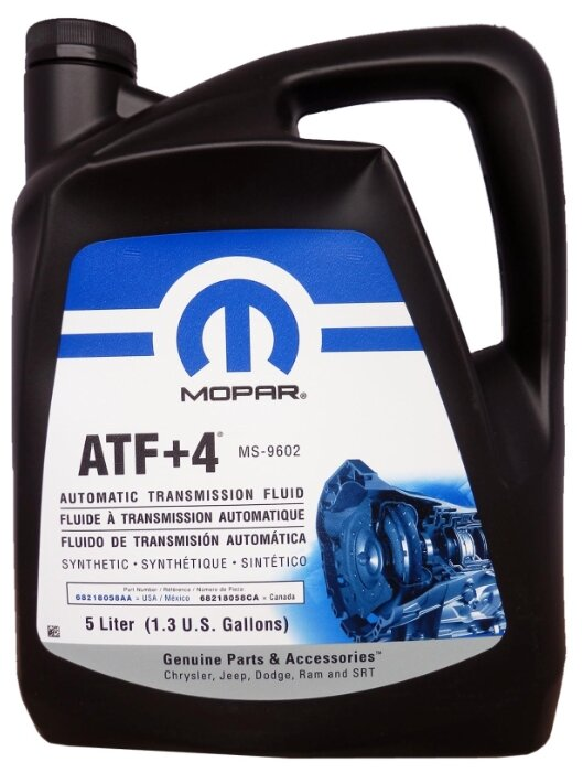 Масло (жидкость) для АКПП Mopar ATF+4 1л