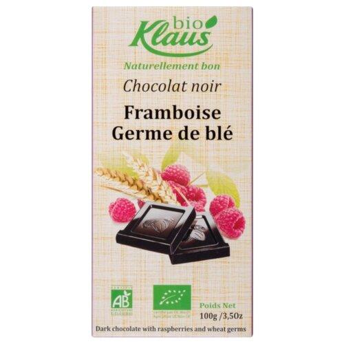 шоколад klaus молочный с кардамоном и кофе 100 г Шоколад Klaus bio темный с малиной и пшеницей, 100 г