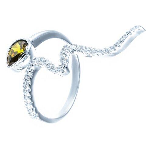 ELEMENT47 Кольцо из серебра 925 пробы с кубическим цирконием MLH0036B_KO_001_WG, размер 18.25