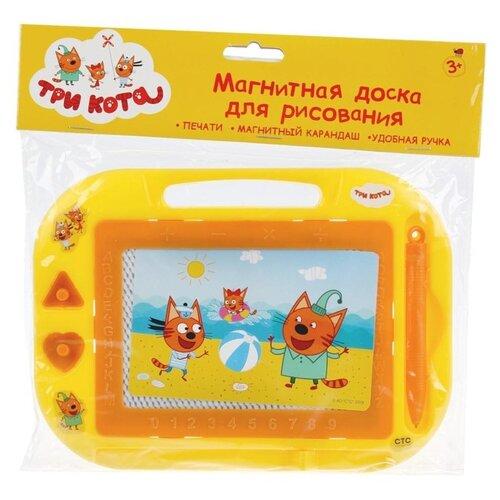 Доска для рисования детская Играем вместе Три кота (B1515226-3CATS) желтый по цене 200