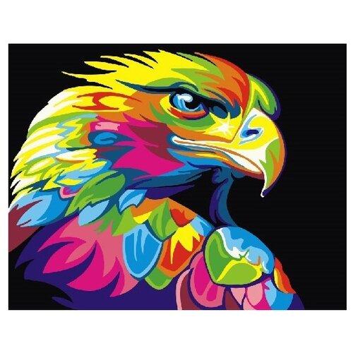ВанГогВоМне Картина по номерам Радужный орел, 40х50 см (ZX 21493) картина по номерам вангогвомне голубая ваза