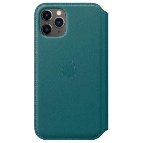 Чехол-книжка Apple Folio кожаный для iPhone 11 Pro зеленый павлин чехол флип кейс apple leather folio для apple iphone 11 pro зеленый павлин [my1m2zm a]