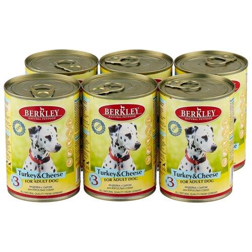 Фото - Влажный корм для собак Berkley (0.4 кг) 6 шт. Паштет для собак. Индейка с сыром 6шт. х 400г влажный корм для собак berkley 0 4 кг 6 шт паштет для собак оленина с коричневым рисом 6шт х 400г