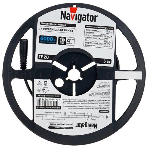Светодиодная лента Navigator NLS-5050СW30-7.2-IP20-12V R5 5 м
