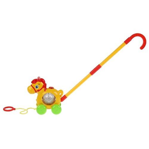 Купить Каталка-игрушка Умка Лошадка HT858-R (24) желтый, Каталки и качалки