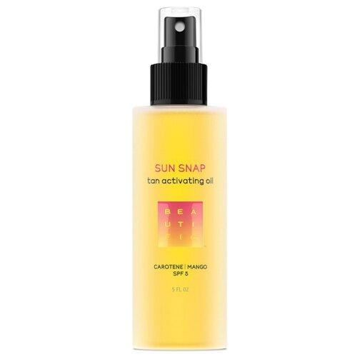 BEAUTIFIC Sun Snap масло для интенсивного загара шелковое Каротин   манго SPF 5 150 мл