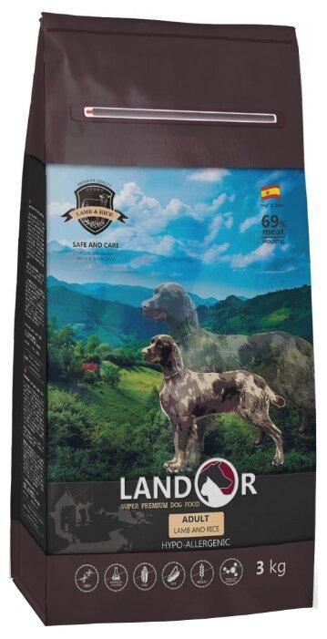 Корм для собак Landor (3 кг) Adult Lamb with Rice с мясом ягненка — купить по выгодной цене на Яндекс.Маркете