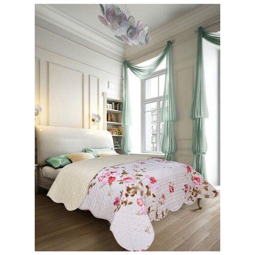 Покрывало Amore Mio Nice 2 85835 220 х 240 см, белый/розовый bedding set double euro amore mio fiona sky blue