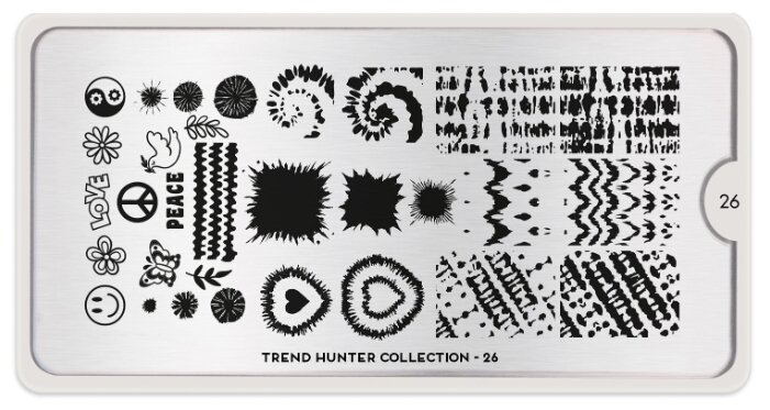 Трафарет MoYou London Trend Hunter №26 12.5 х 6.5 см