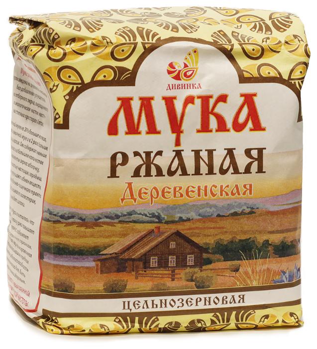 Мука Дивинка Деревенская ржаная цельнозерновая, 1 кг