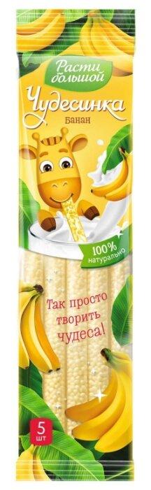 Соломинка для молока Чудесинка банановая (с 3-х лет),5 шт. по 30 г