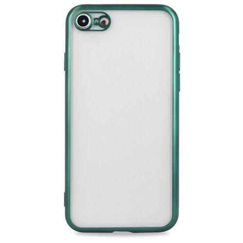 Матовый силиконовый чехол для Аpple iPhone 7, 8 и SE 2020 / Прозрачный чехол с бампером на Эпл Айфон 7, 8 и SE 2020 (Зеленый)