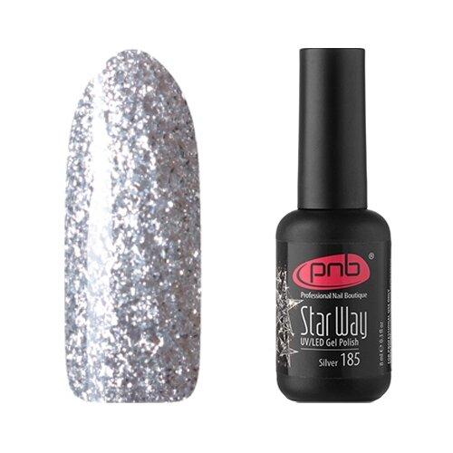 Гель-лак для ногтей PNB Star Way, 8 мл, оттенок Silver 185 наушники skullcandy jib w mic blue black