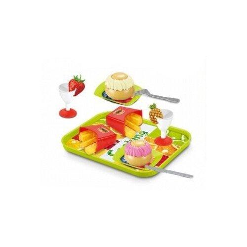 Набор продуктов с посудой Xing Jia Toys 1819952 разноцветный набор jin jia tai 870 розовый голубой белый