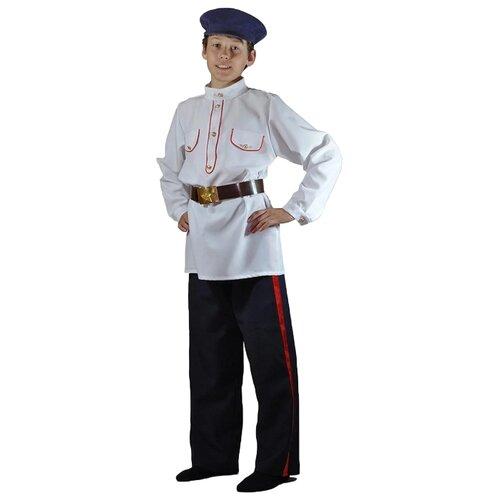Купить Костюм Карнавалия.рф Казак донской (M-0131), белый/черный, размер 32/122-128, Карнавальные костюмы