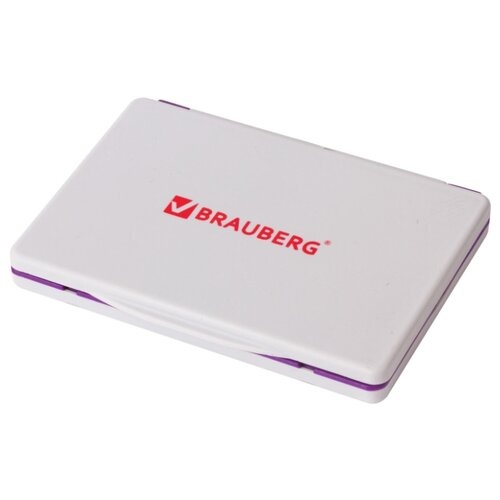 Фото - Штемпельная подушка BRAUBERG 236869 прямоугольная фиолетовая подушка 40х40 с полной запечаткой printio французский бульдог