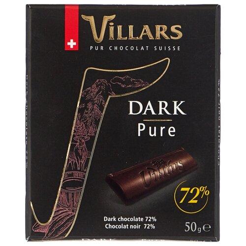 шоколад villars 72% горький 100 г Шоколад Villars Dark Pure Intense горький 72% какао, 50 г