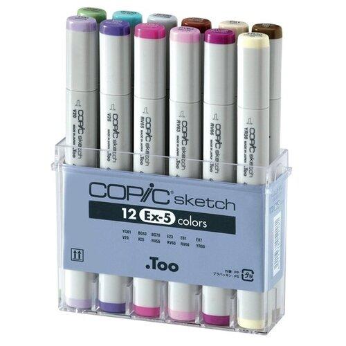 COPIC набор маркеров Sketch EX-5 (H21075-411), 12 шт., Фломастеры и маркеры  - купить со скидкой