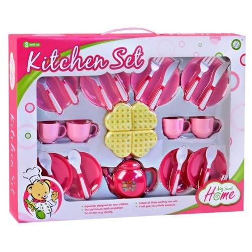 Набор продуктов с посудой Джамбо Тойз JB202150 розовый недорого