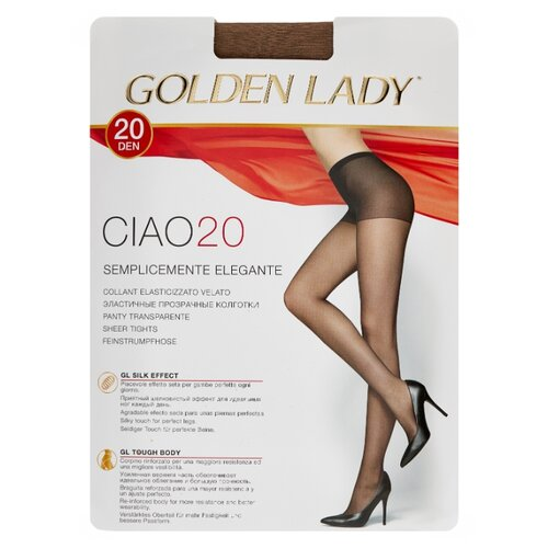 Колготки Golden Lady Ciao 20 den, размер 4-L, daino (бежевый) колготки golden lady leda 20 den размер 4 l daino бежевый