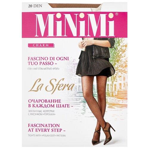 Колготки MiNiMi La Sfera 20 den, размер 2-S/M, daino (бежевый) колготки minimi la sfera 20 den размер 3 m daino бежевый