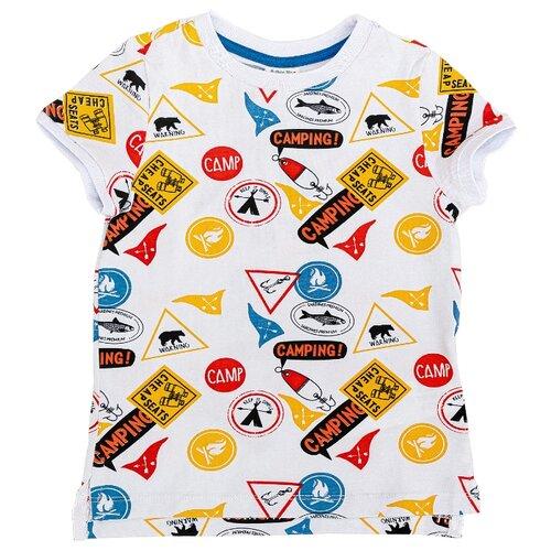 Купить Футболка Button Blue размер 158, желтый, Футболки и майки