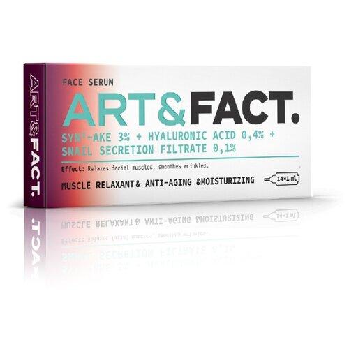 Купить Сыворотка под мезороллер для лица с пептидом SYN®-AKE 3%(аналогом ботокса), низкомолекулярной и среднемолекулярной гиалуроновой кислотой, и фильтратом секреции улитки (SYN®-AKE 3% + Hyaluronic Acid 0, 4% + Snail Secretion Filtrate 0, 1 %), ART&FACT