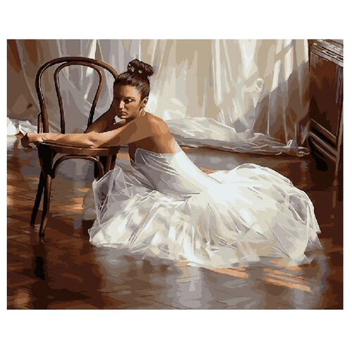 "ВанГогВоМне Картина по номерам ""Балерина у стула"", 40х50 см (ZX 22036)"